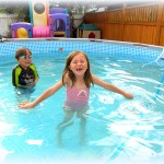Happy swimmers in our rocking pool!